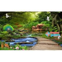 Gạch tranh phong cảnh thiên nhiên