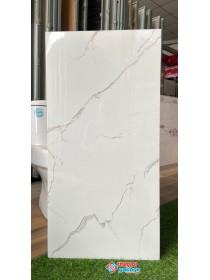 Gạch ốp tường 40x80 khắc kim tông trắng