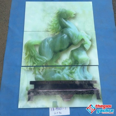 gạch tranh ngựa trang trí 60x90 giá rẻ
