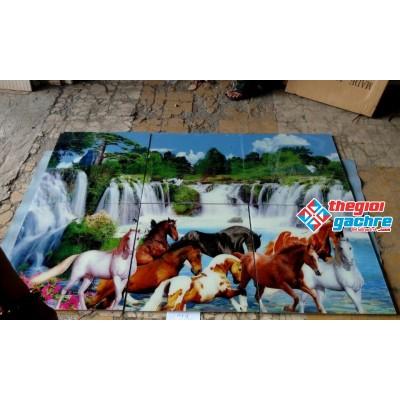 Gạch tranh ngựa phong cảnh đẹp 120x180 giá rẻ