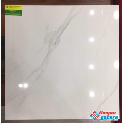 Gạch bóng kiếng 60x60 lát nền trắng vân xám
