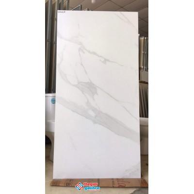Gạch ấn độ 60x120 trắng xám mờ