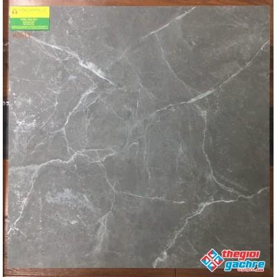 Gạch thạch anh cao cấp 60x60 xám vân trắng