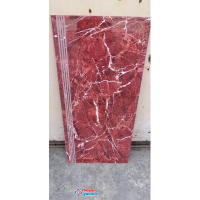 Gạch lót cầu thang 47x100 đỏ vân trắng