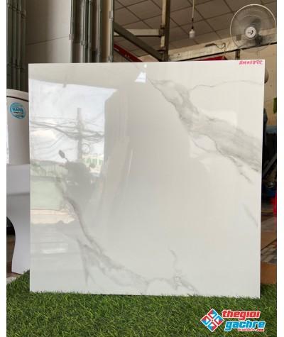 Gạch trắng vân mây 60x60 bóng kính